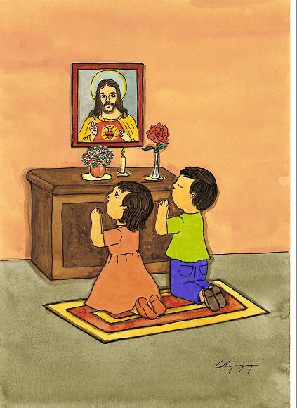 rezando-a-imágenes